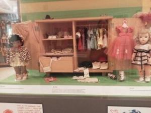 2 dolls + wardrobe