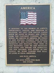 America sign at Wyuka