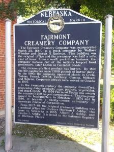 Fairmont Creamery Marker