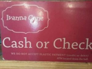 Ivanna Cone cash or check