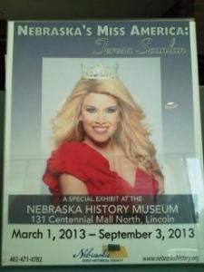 Miss America exhibit sign