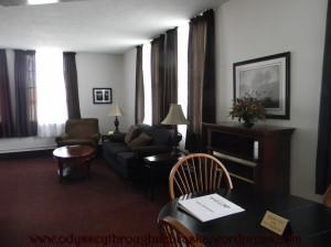 Arrow Hotel living room suite