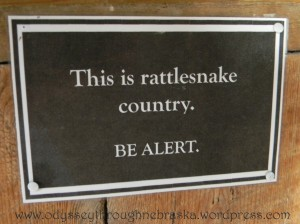 fur trade rattlesnake sign