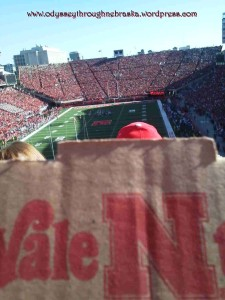 Huskers pizza box