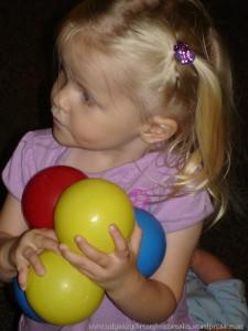 K having a ball