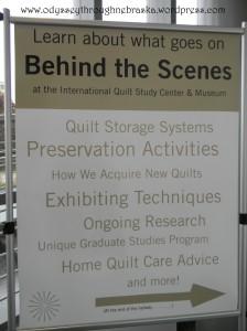 Quilt behind the scenes
