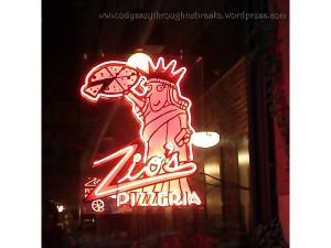 Zio's neon sign