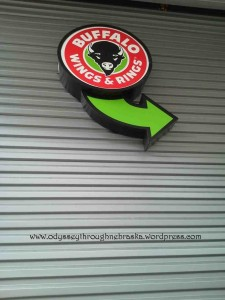Buffalo Wings and Rings Outdoor Sign