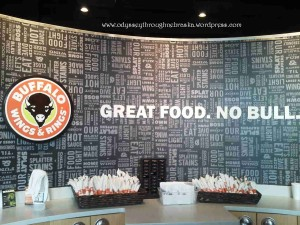 Buffalo Wings and Rings Welcoming Station