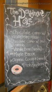Doughnut Hole chalkboard sign