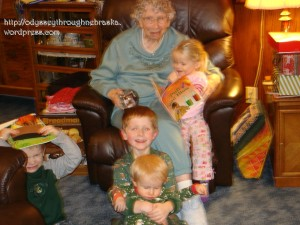 Grandma and the kids