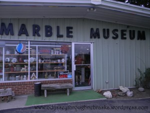 @ Lee's marbles museum sign
