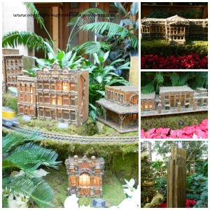 Lauritzen Gardens Christmas Building Collage
