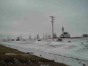 Winter Nebraska Church