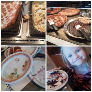Aurora Pizza Hut Food Collage