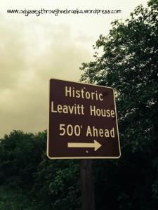 Leavitt House Sign text