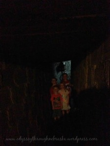 Mayhew Cabin children in tunnel
