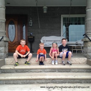Our kids on the Porch text