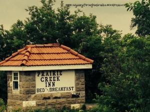 Prairie Creek Inn Bed & Breakfast sign text